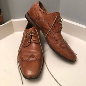 Cole Haan Air Giraldo Wingtip Tan Leather Oxfords